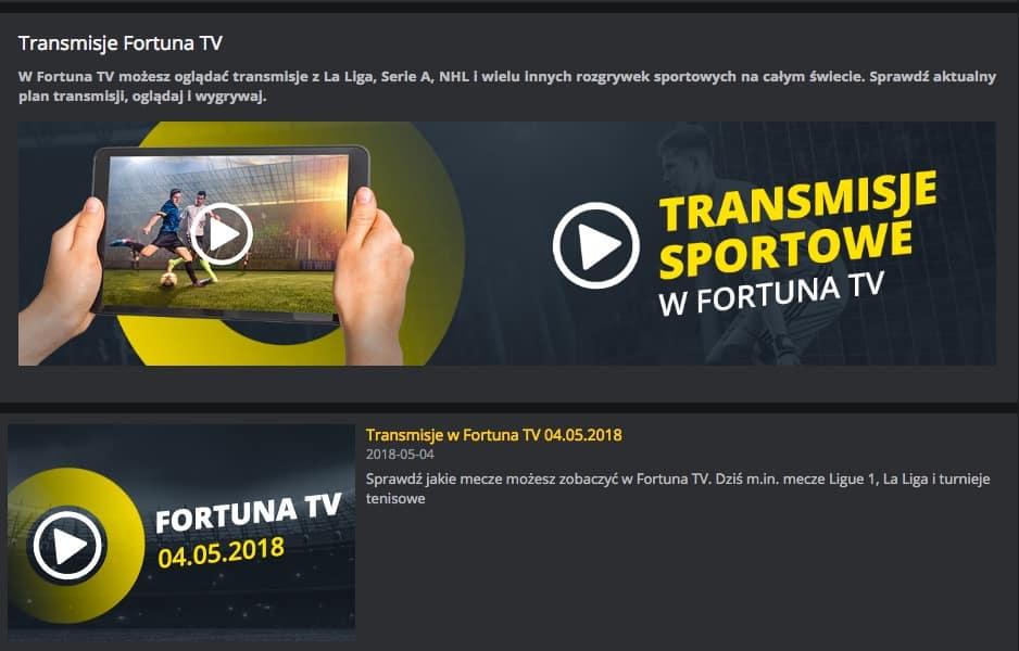 Fortuna TV mecze online
