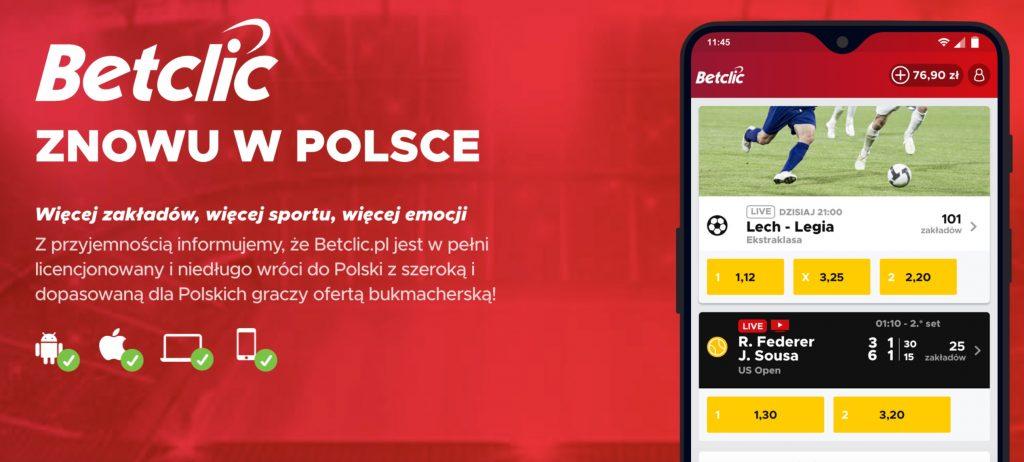 BetClic zapowiada powrót do Polski. Znamy szczegóły!