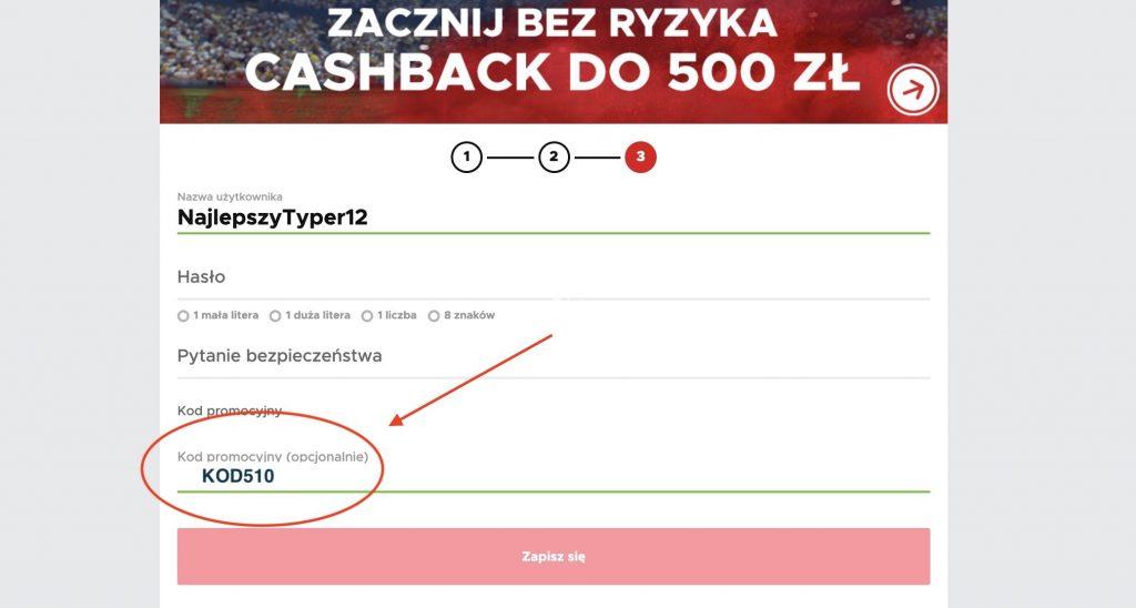 Betclic kod na bonus cashback