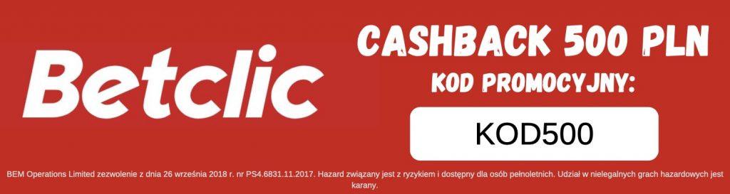 """kod promocyjny Betclic """"Kod500"""""""