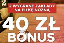 Betclic z bonusem piłkarskim. 40 PLN na weekend!