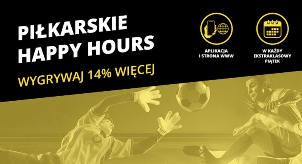 Jest Ekstraklasa w piątek - jest bonus Happy Hours w Fortuna Online!